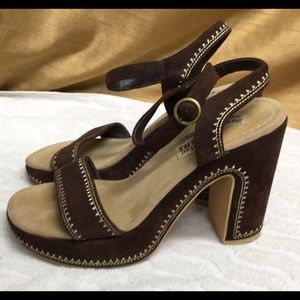 Something Else From Skechers Brown Leather Sandals